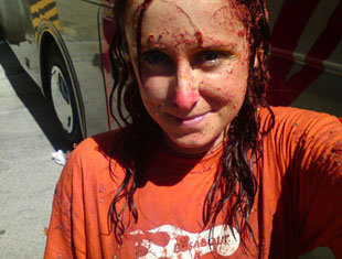 Girl after the Tomato fight