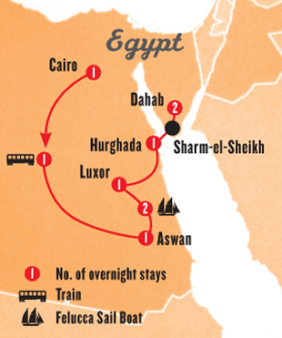 Egypt Tour Map
